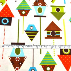 Fat Quarter - Bird houses...
