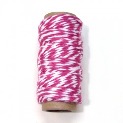 Bakers Twine rosa rollo 10m