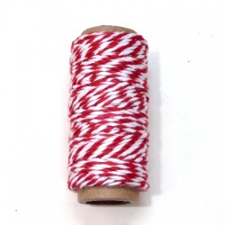 Bakers Twine rojo rollo 10m