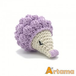 Hedgehog rattle in lilac color