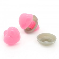 14mm pink safety eyes Heart - 5 pairs