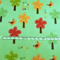 Fat Quarter - Trees in Teal