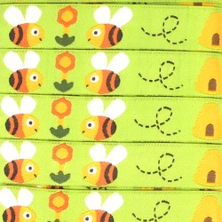 Embroidered ribbon 15mm - Bees
