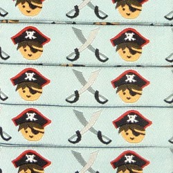 Embroidered ribbon 15mm - Pirates