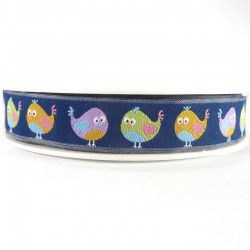 Embroidered ribbon 15mm - Birds
