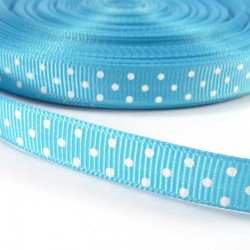 Mini dots grosgrain tape 10mm - Blue