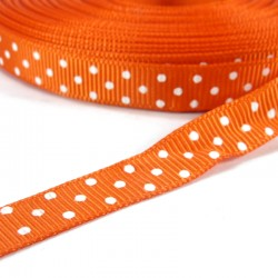 Mini dots grosgrain tape 10mm - Orange