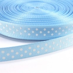 Mini dots grosgrain tape 10mm - Light blue