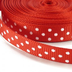Mini dots grosgrain tape 10mm - Red