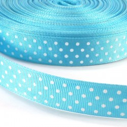 Mini dots grosgrain tape 15mm - Blue