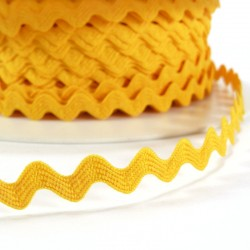 Rick rack ribbon 8mm - Yellow