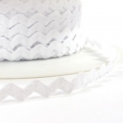 Rick rack ribbon 8mm - White