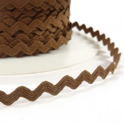 Rick rack ribbon 8mm - Brown