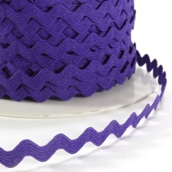 Rick rack ribbon 8mm - Dark purple