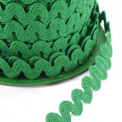 Rick rack ribbon 8mm - Green