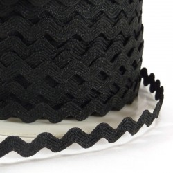 Rick rack ribbon 8mm - Black