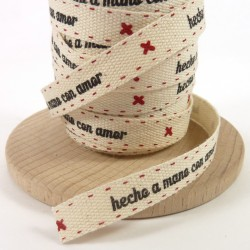 Cotton tape 10mm - Hecho a mano con amor