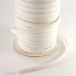 Spaguetti fabric tape 6mm - White