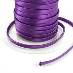 Spaguetti fabric tape 6mm - Dark purple