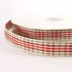 Plaid tape 15mm - Red