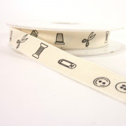 Cotton tape 12mm - Sewing