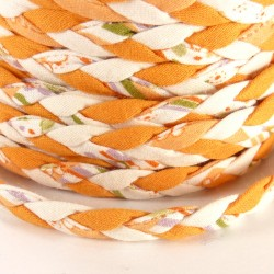 Braided ribbon 8mm - Orange