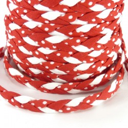 Braided ribbon 8mm - Red