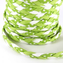 Braided ribbon 8mm - Green