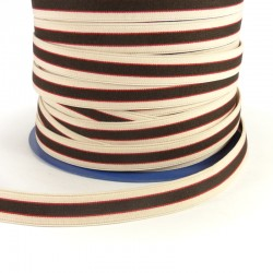 Striped elastic tape