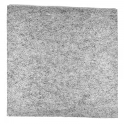 Marbled light grey wool thick felt - 20x20cm