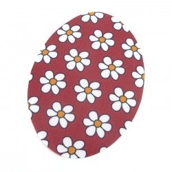Textil patch oval - Red flowers