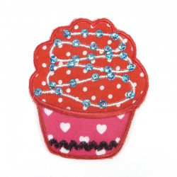 Textil patch - Red cupcake