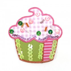 Textil patch - Pink cupcake
