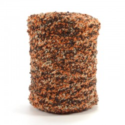 Towel yarn - Brown and Orange