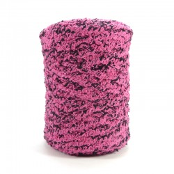 Towel yarn - Pink and Black