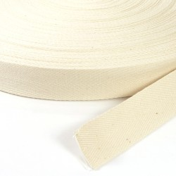 100% cotton tape Ecru 30mm