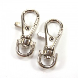 Silver lobster clasp 37mm - 2u