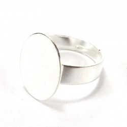 Finger ring oval base 12mm - 5u