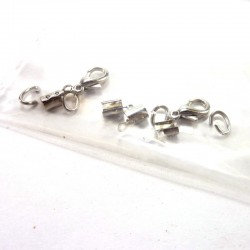 Lobster clasp 2mm - 2 pair