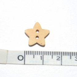 Wood button Star