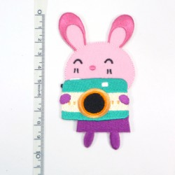 Textil patch - Bunny in pink