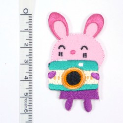 Textil patch - Little Bunny in pink