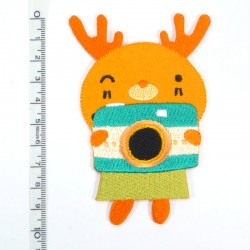 Textil patch - Moose in orange