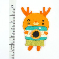 Textil patch - Little Moose in orange