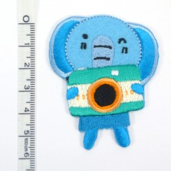 Textil patch - Little Elephant in blue