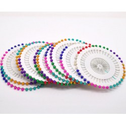 colored round head sewing pins