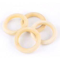 Natural Wood ring 56mm 1unit