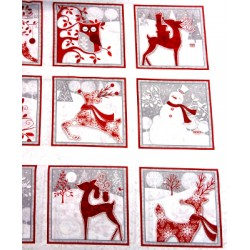 Christmas holiday frost fabric - 50cm