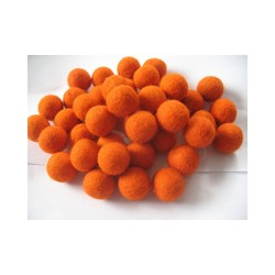 10 Bolas de fieltro 1cm - 24 Blaze Orange