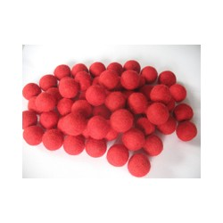 10 Bolas de fieltro 1cm - 03 Red